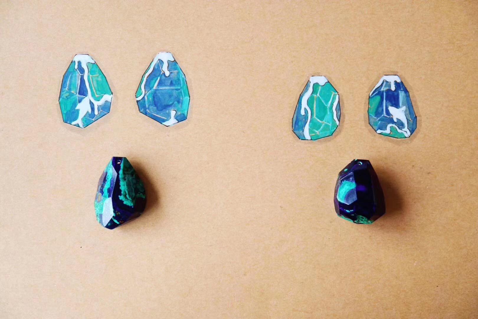 【菩心-蓝铜矿】能够疗愈心轮与喉轮-菩心晶舍