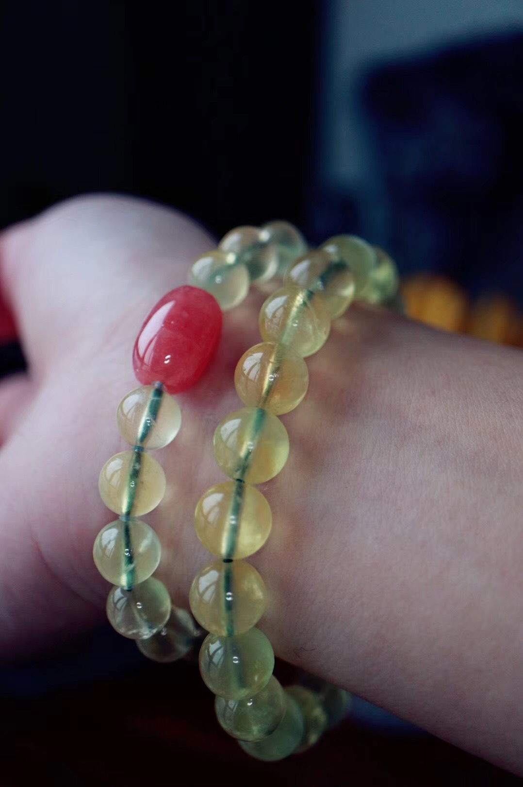 【菩心葡萄石 | 红纹石】 葡萄石,能够提高直觉力,化解压力-菩心晶舍