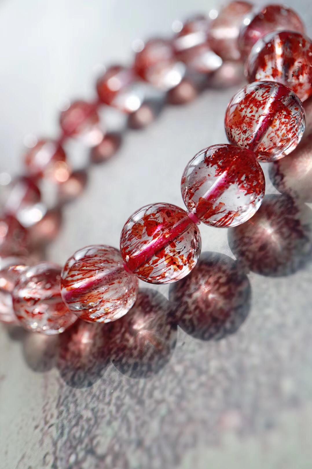 【超七金草莓晶 】内心因丰盈而清透,精神因明朗而蓬勃,灵魂因丰富而深邃~-菩心晶舍