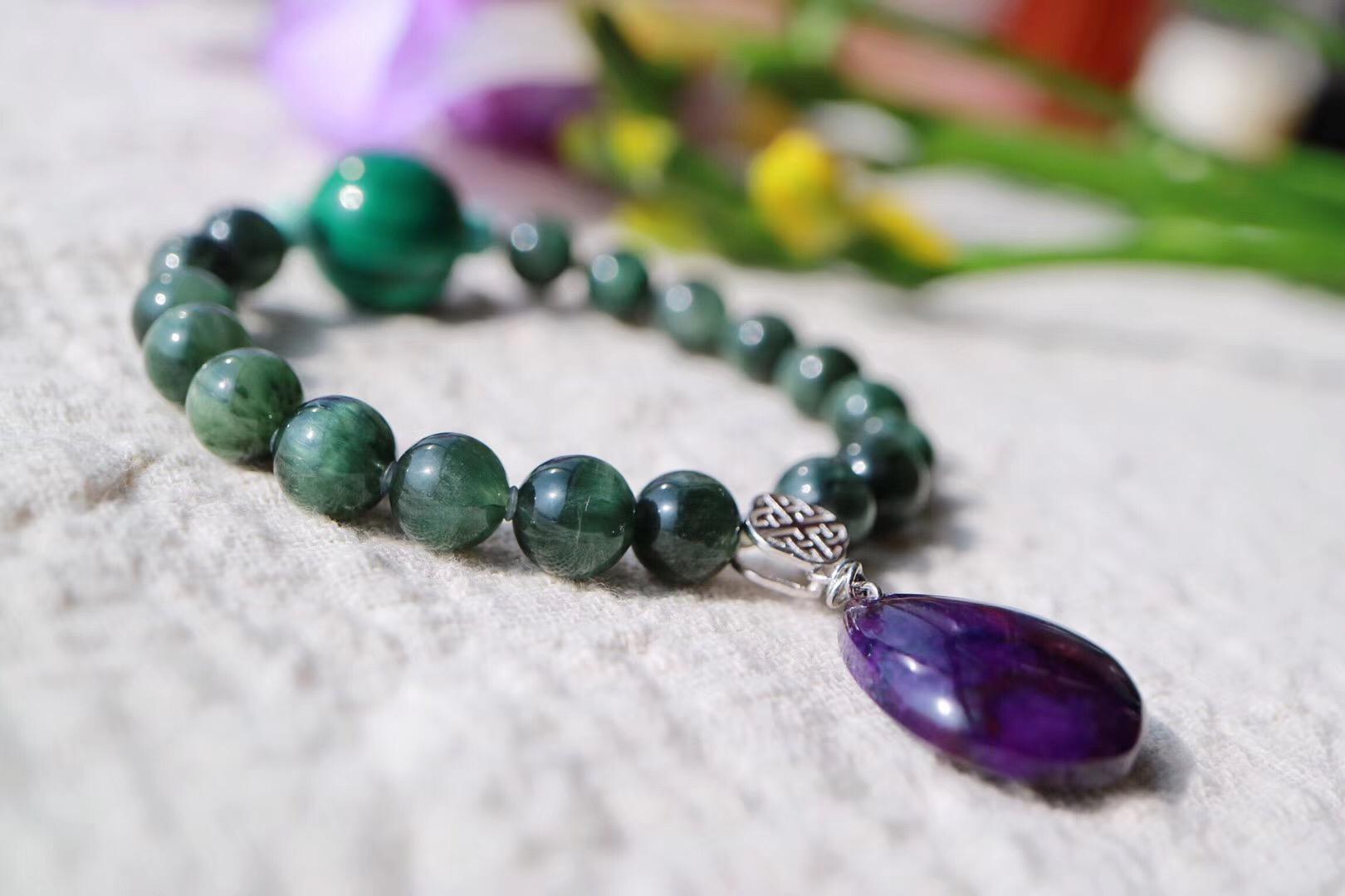 【菩心   绿发晶】压力大时可拿着绿发晶冥想绿光充满满身-菩心晶舍