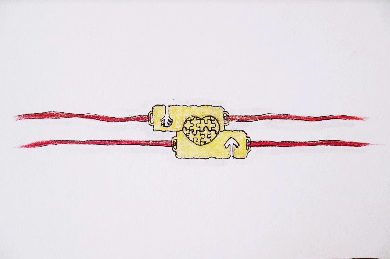 【菩心|红绳守护手链定制-18k】菩心的小心机,宝宝们要懂哦!-菩心晶舍