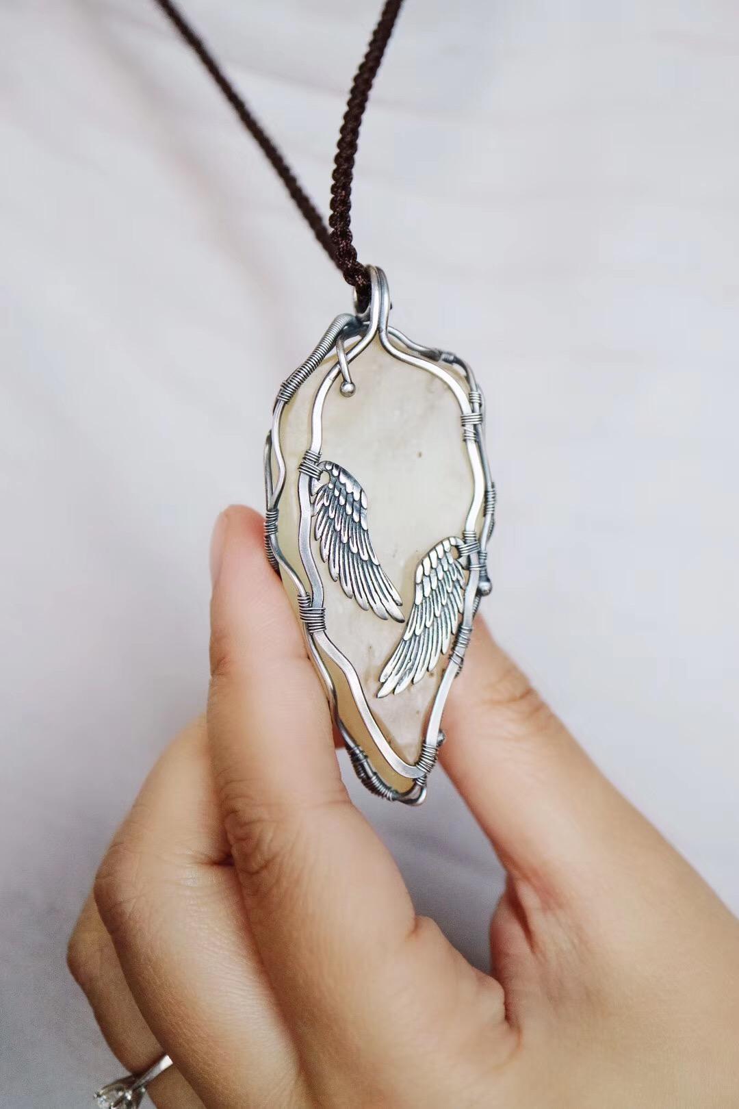 【菩心-利比亚陨石客订】它能像天使之翼一般,在主人身边。-菩心晶舍