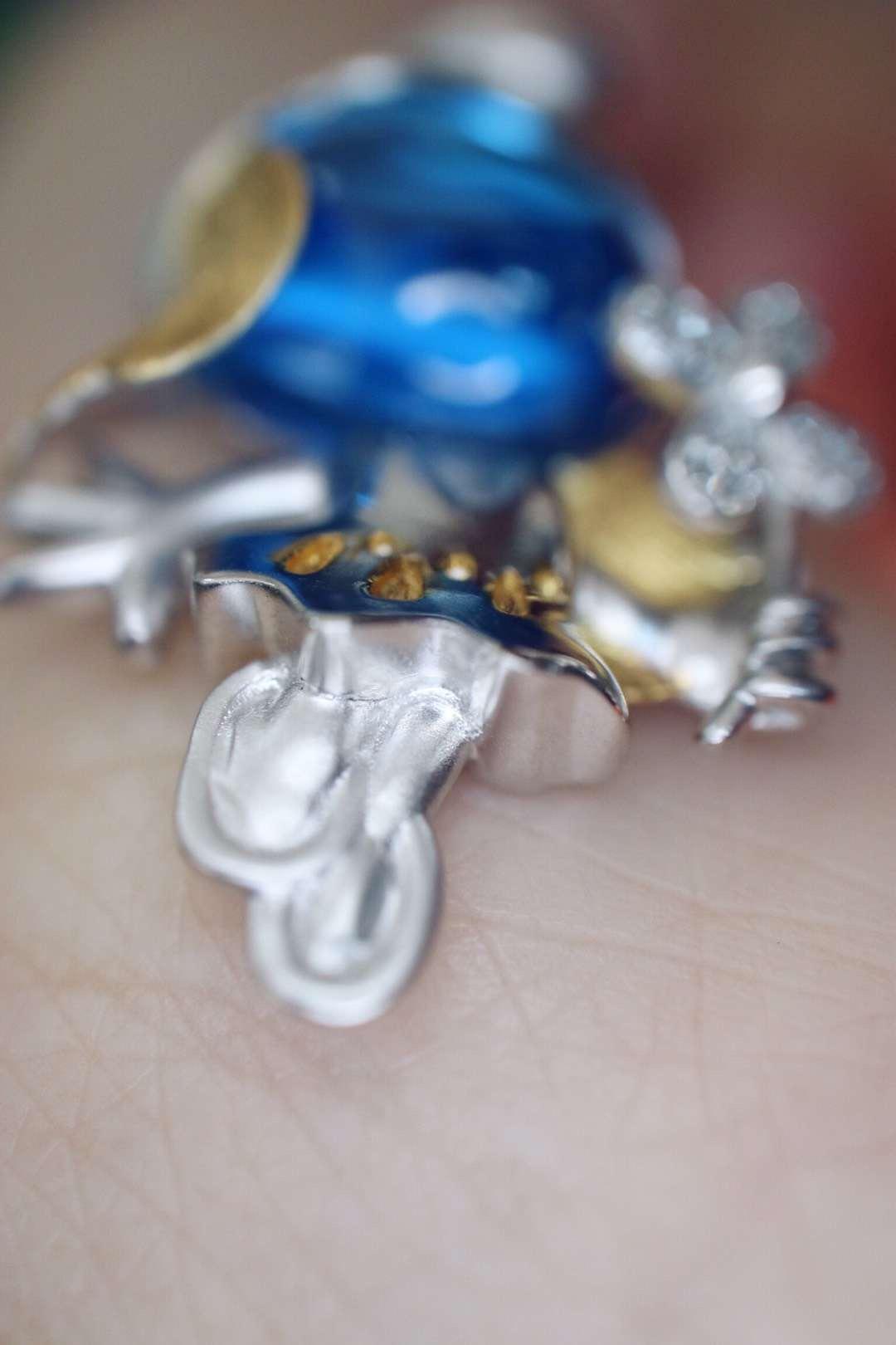 【菩心-托帕石&蓝妹妹白金】抵挡不了的菩心激萌卡通珠宝--托帕石&蓝妹妹-菩心晶舍