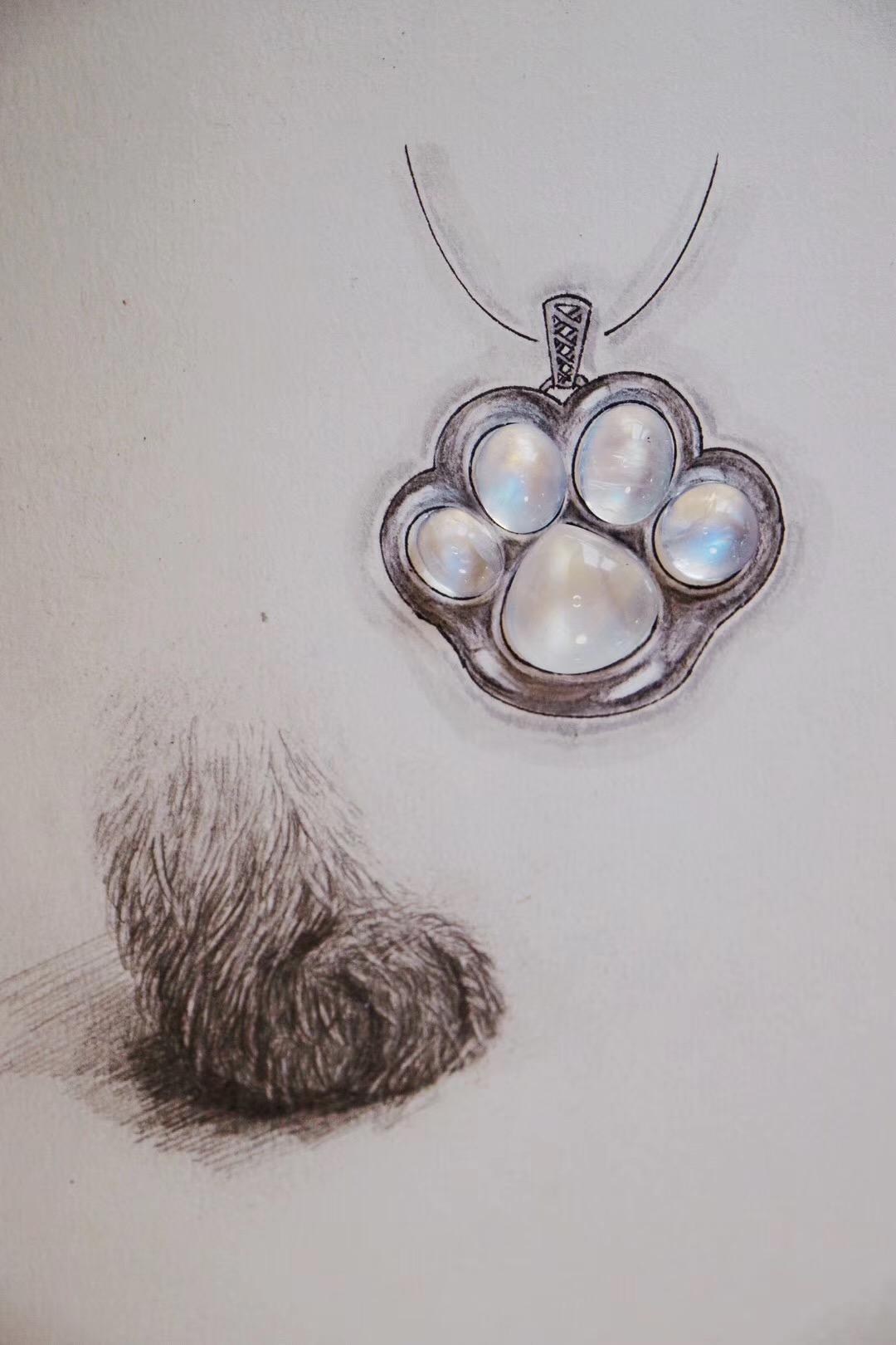 【菩心-月光石】小哥哥定的猫爪,我会给你做成立体的哟~~~-菩心晶舍