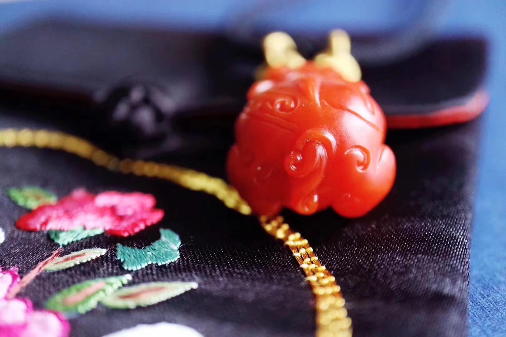 【菩心-保山南红&貔貅】招财辟邪神兽貔貅胸前一趴,余生顺顺当当。-菩心晶舍