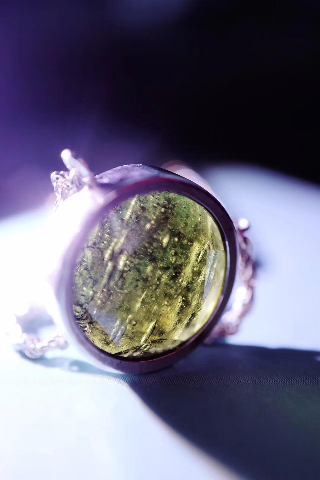 【菩心-捷克陨石爱心锁骨链】小小身材,大大能量。-菩心晶舍