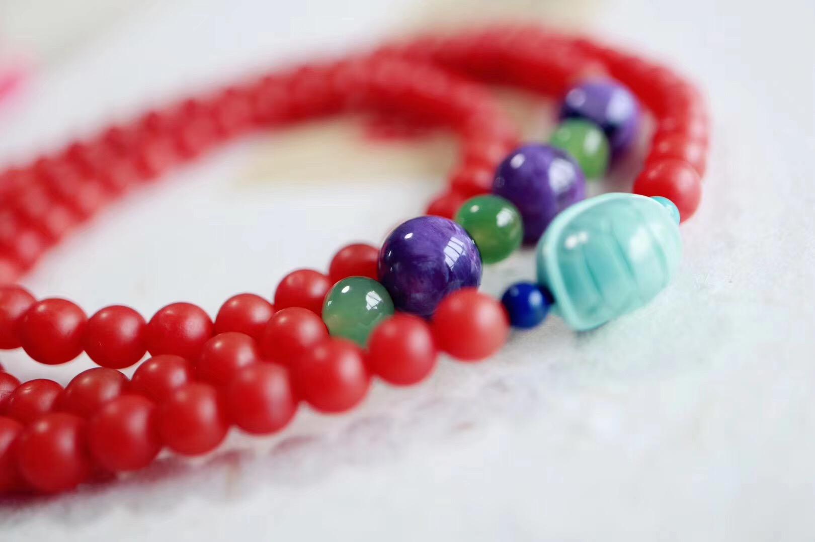 【菩心保山南红 | 绿松石】对于红色总是有着一种莫名的喜爱~-菩心晶舍