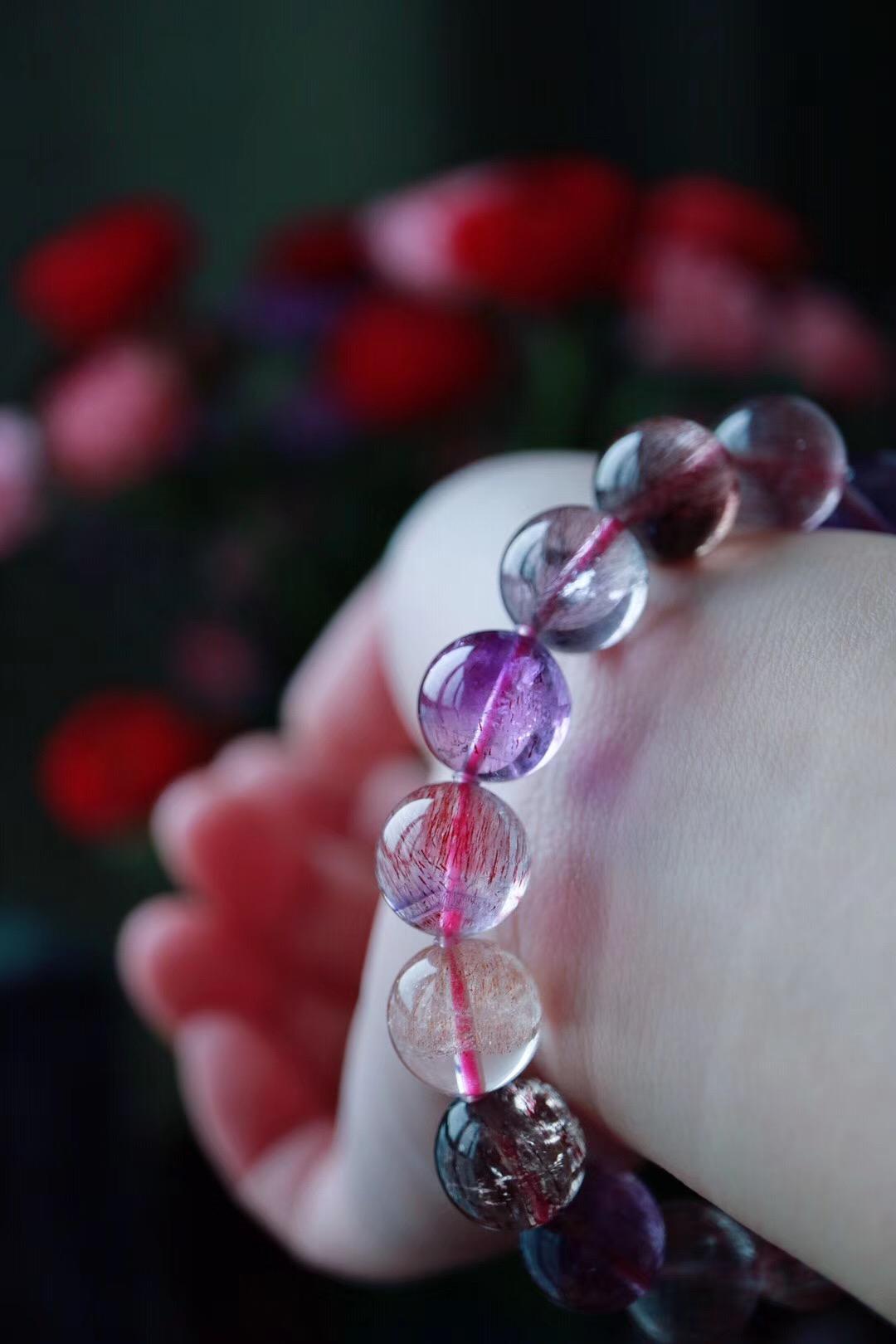 【菩心三轮骨干紫发晶】超七紫发晶极具灵性,可以缓解精神上的疲劳-菩心晶舍