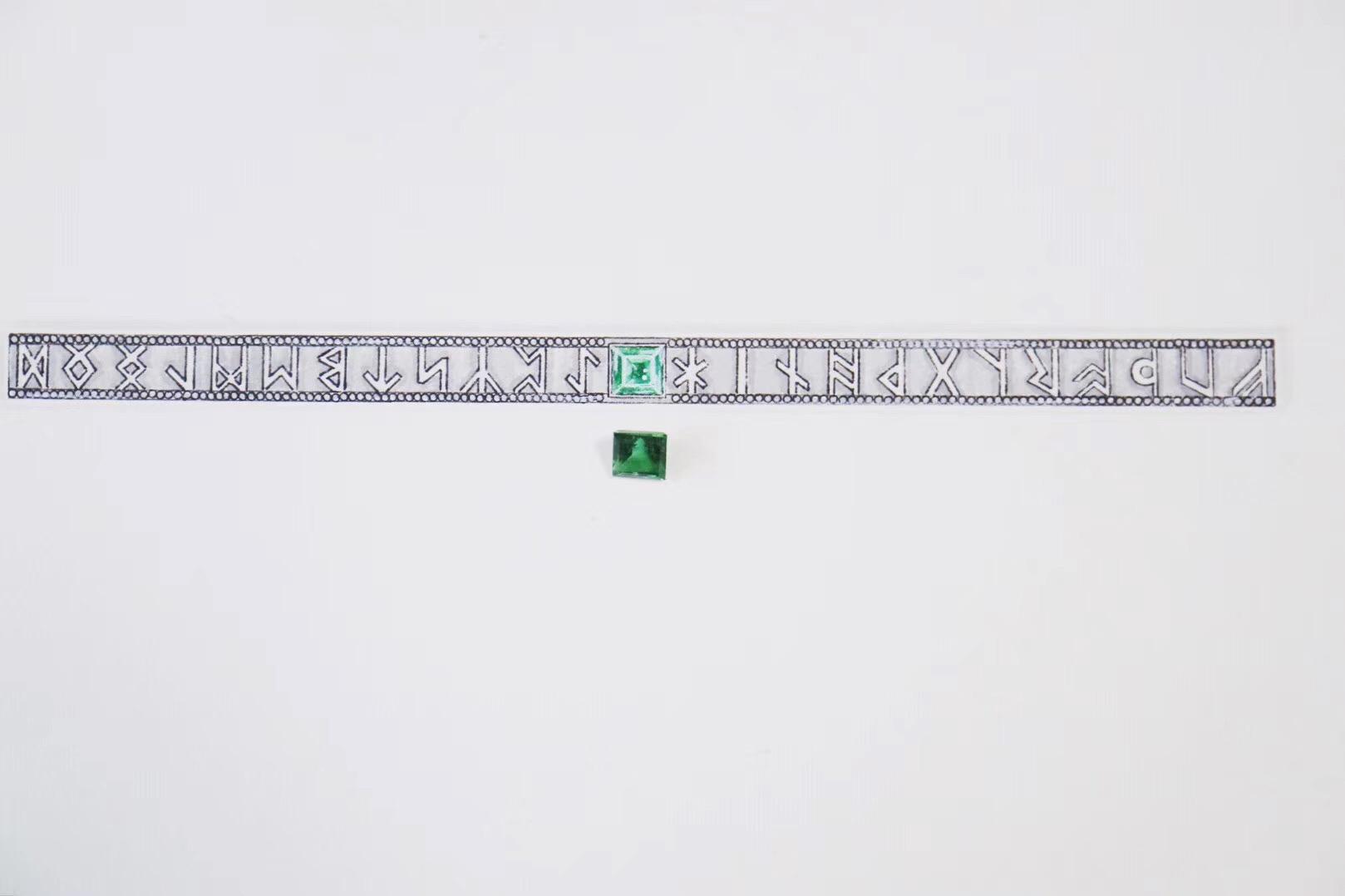 【菩心-绿碧玺】卢恩字母(Runes)又称为如尼字母,是一类失传已久的字母-菩心晶舍
