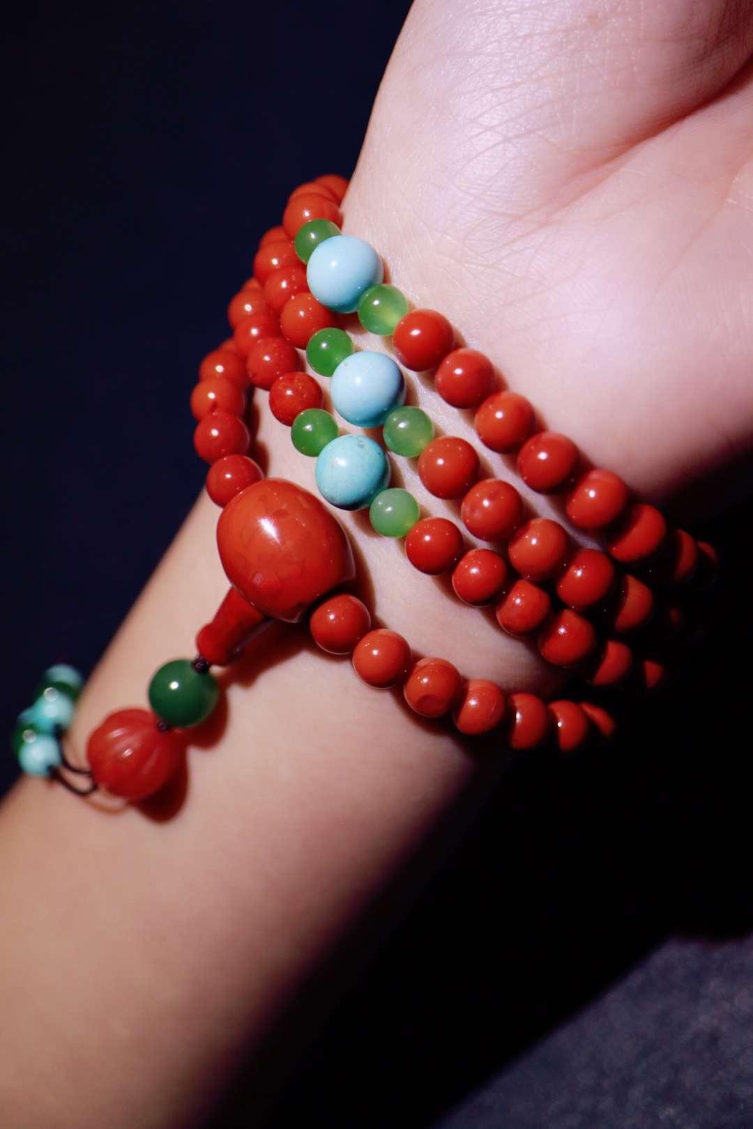 【菩心南红一百零八子】 红色,一直以来都是祥瑞之色-菩心晶舍