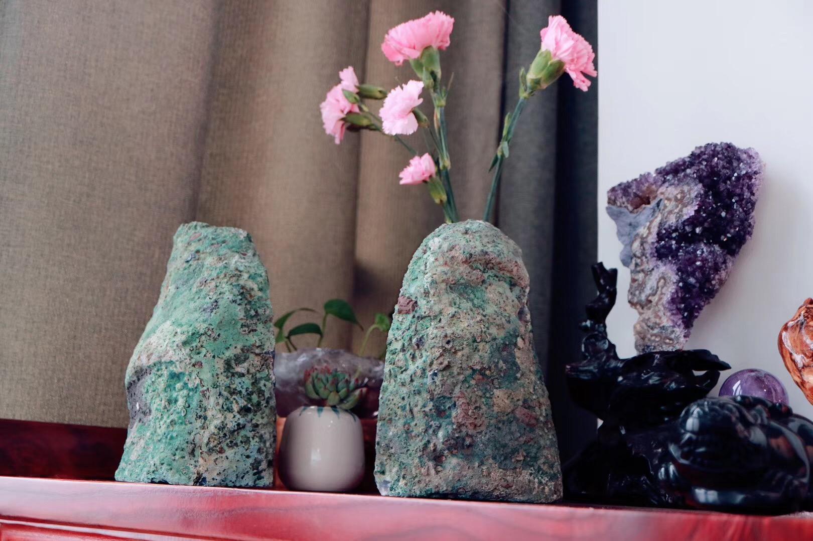 【菩心 | 玛瑙对洞】一对原皮原矿玛瑙洞,极具特色-菩心晶舍