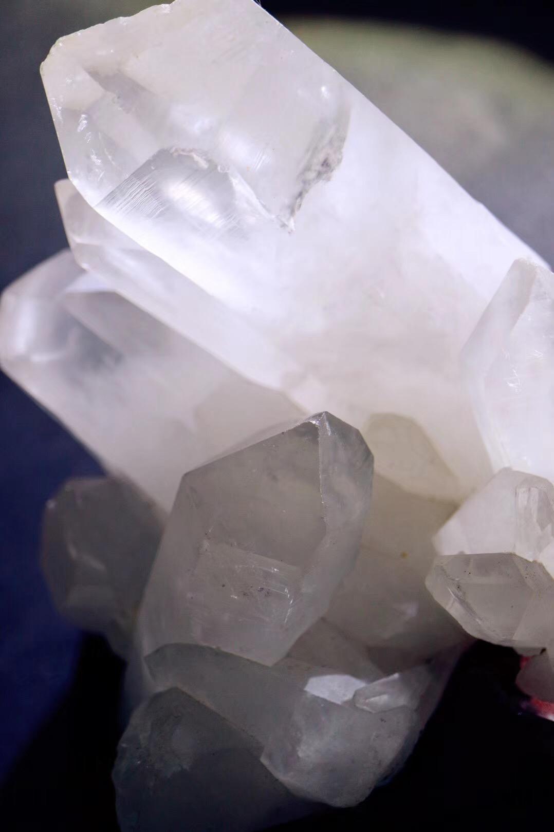 【白水晶簇】 白水晶簇代表着平衡和圆满-菩心晶舍