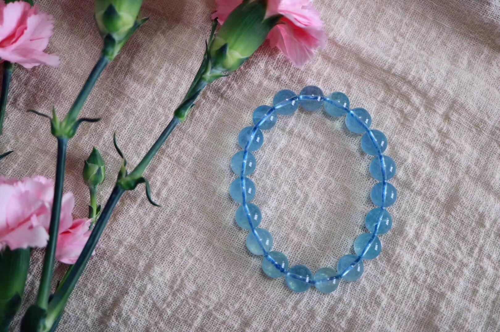 【菩心 | 海蓝宝】海蓝宝石象征幸福、幸运、美好、长久,是双鱼座的守护幸运石-菩心晶舍