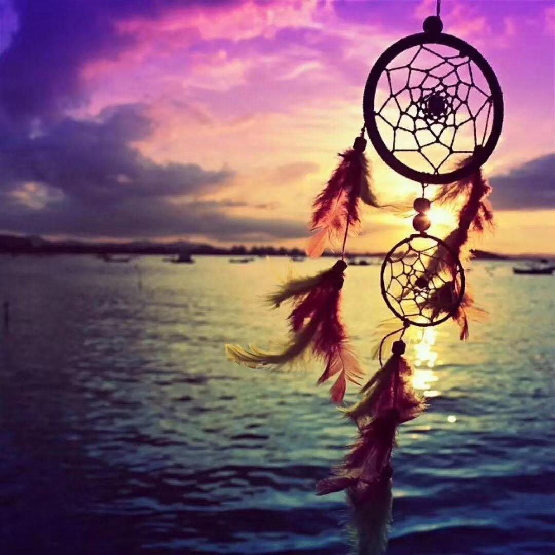 【菩心-月光石&捕梦网】月光石对应顶轮,是助眠的好宝石-菩心晶舍