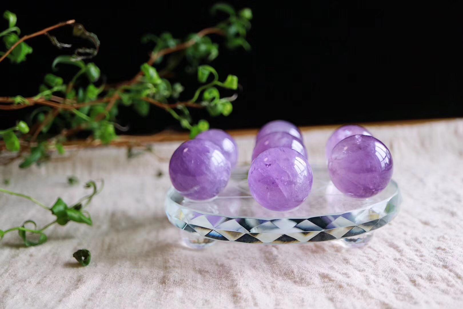 【菩心 | 紫晶🔮七星阵】一组紫晶球七星阵,有助于我们的心灵成长~~-菩心晶舍