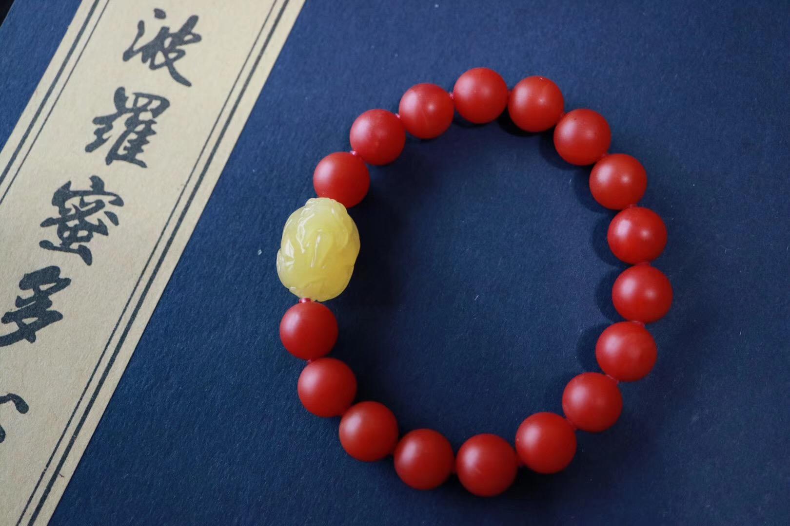 【菩心南红玛瑙 | 蜜蜡貔貅】女人的美,也需要美物来配-菩心晶舍