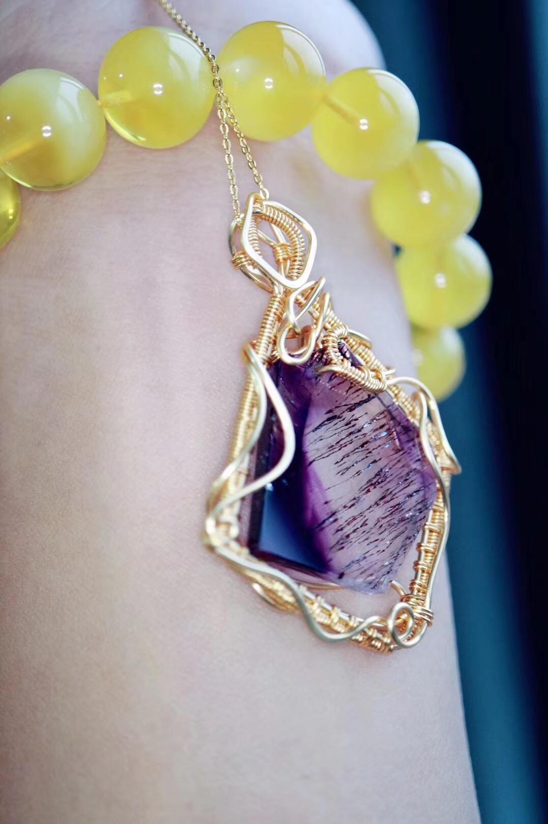 【菩心紫发晶】 让自己幸福起来 有时候或许很简单-菩心晶舍