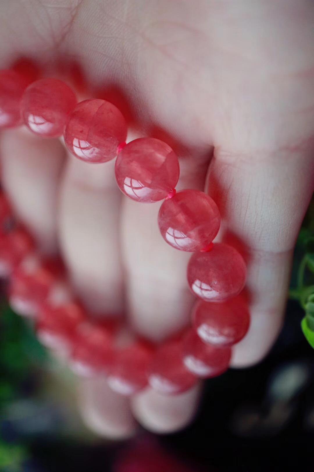 【菩心 - 冰种红纹石】每个女子都应该有一条配得上自己的红纹石-菩心晶舍
