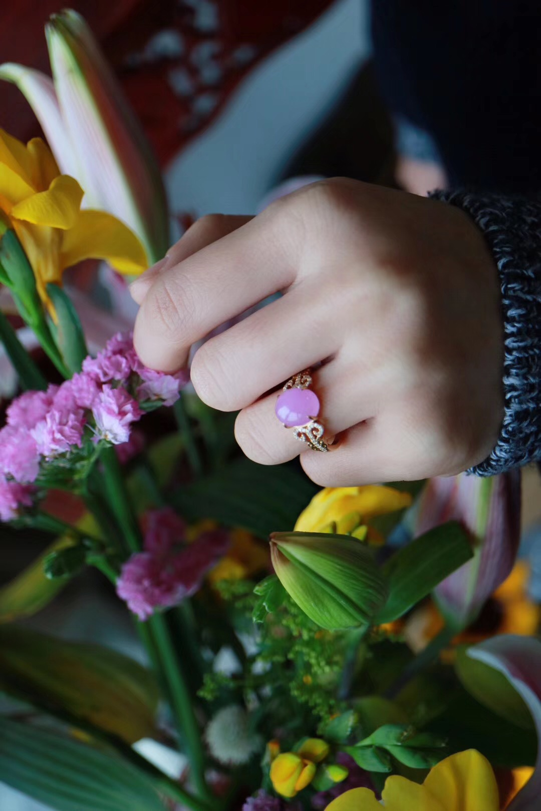 【菩心 | 舒美人 | 18k & 💎】之所以爱舒,是因为它的雅色-菩心晶舍