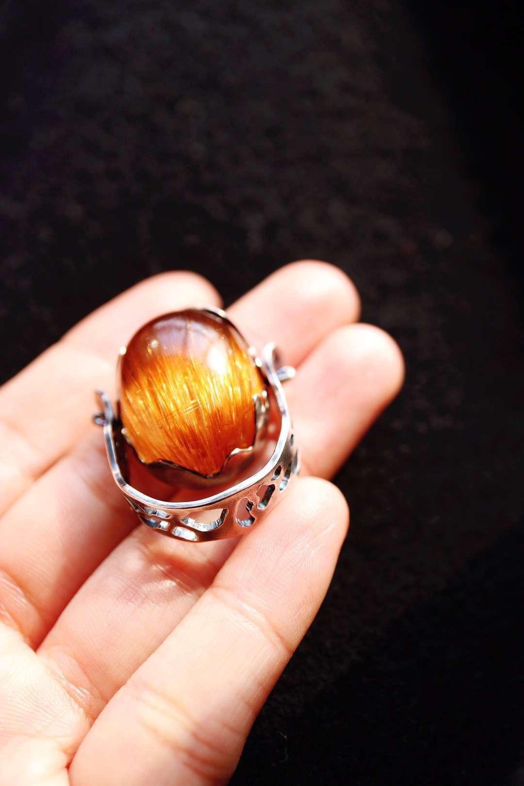 【菩心-铜发晶&吊坠戒指两用】菩心晶舍家的美物,每件看着都像糖果-菩心晶舍
