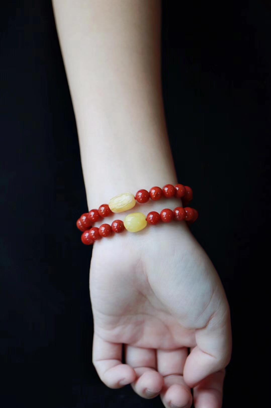 【南红玛瑙 | 蜜蜡】红色,一直以来都是祥瑞之色-菩心晶舍
