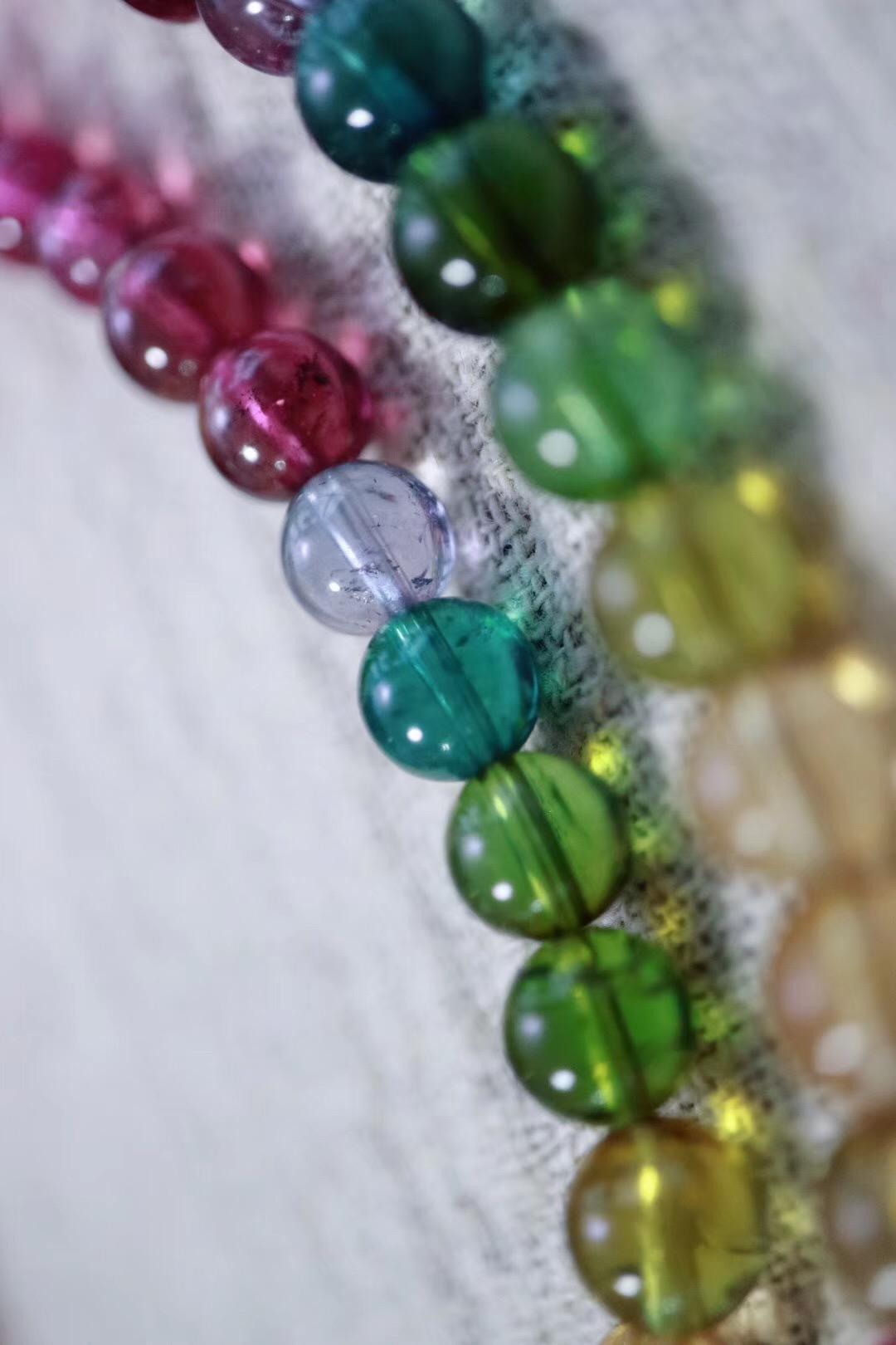 【菩心精美彩虹碧玺】愿美 ! 不止是皮囊,更是内心的丰盈、多彩和喜悦~-菩心晶舍