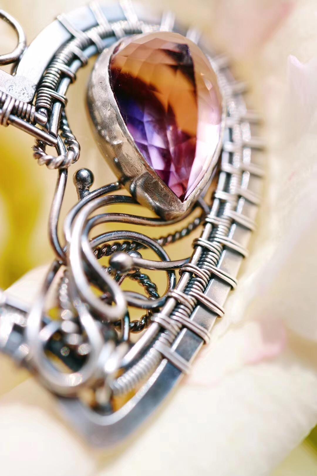 【菩心-紫黄晶】紫黄晶手工坠,看着就很美好-菩心晶舍