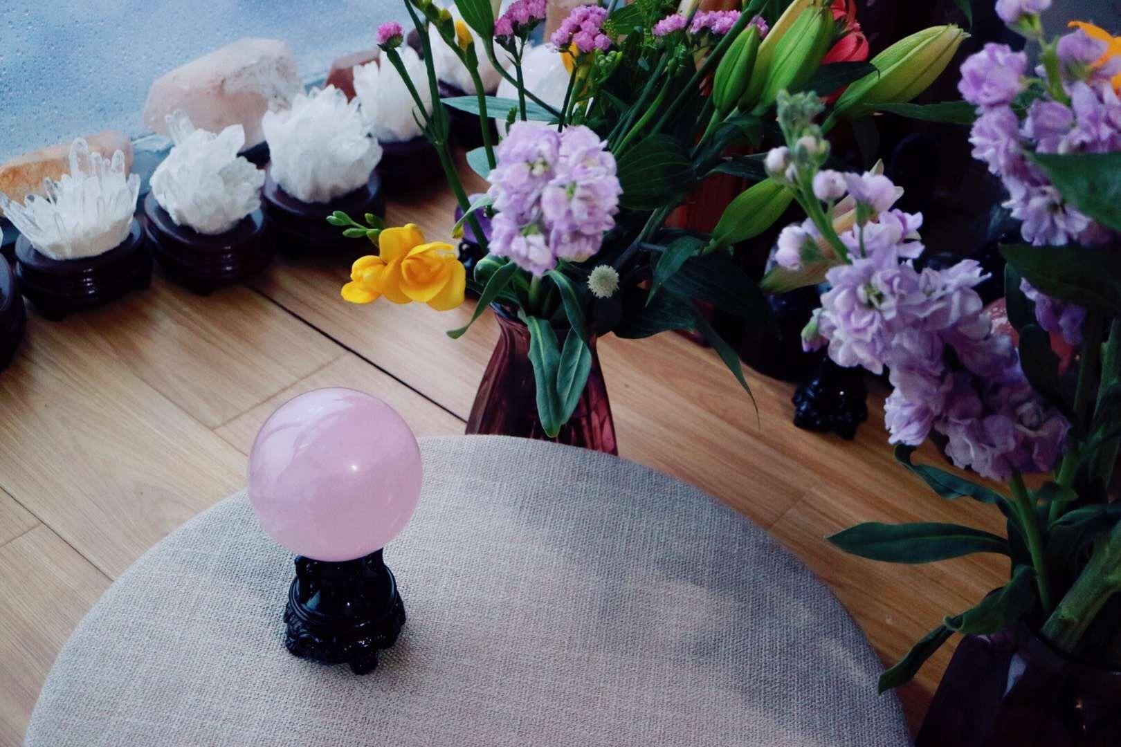 【菩心 | 粉晶球】 让爱一直倾心相伴-菩心晶舍