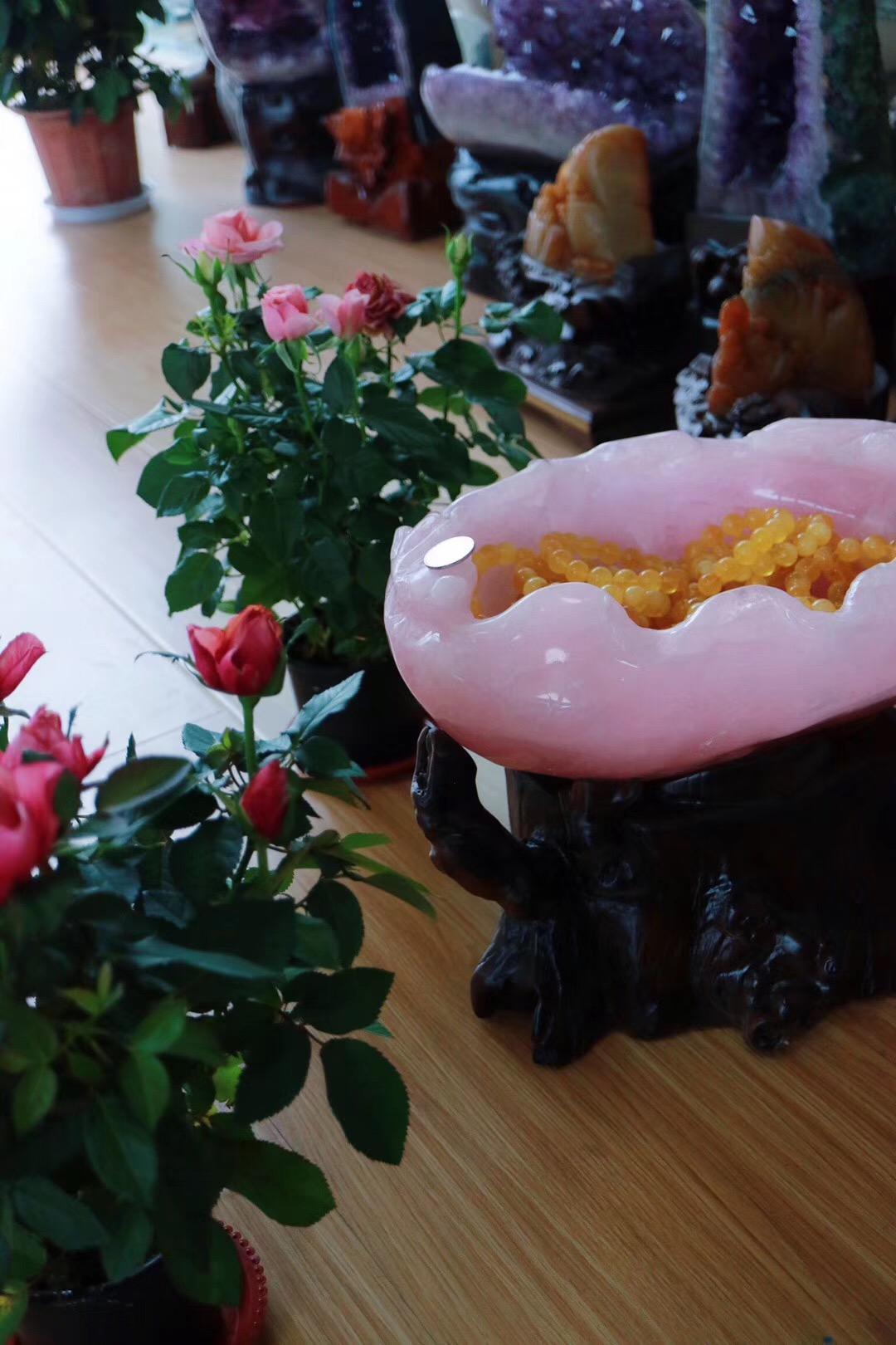 【菩心   收藏级粉晶聚宝盆】菩心晶舍的粉晶盆都是颜值杠杠滴-菩心晶舍