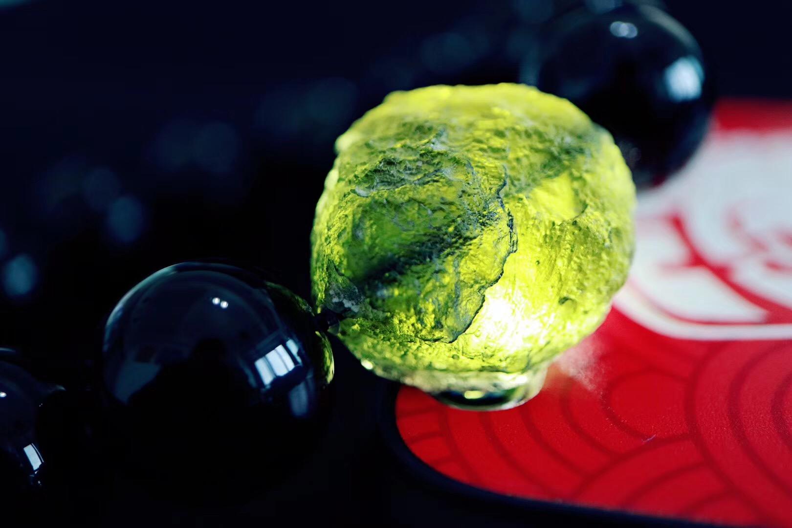 【菩心黑曜石 | 捷克陨石】 墨西哥国石,十足的黑金刚武士-菩心晶舍