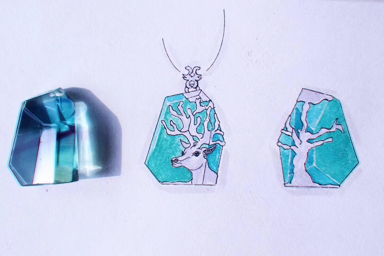 【菩心-胎毛定制】这一枚胎毛的设计来自宫崎骏,更是治愈系的-菩心晶舍