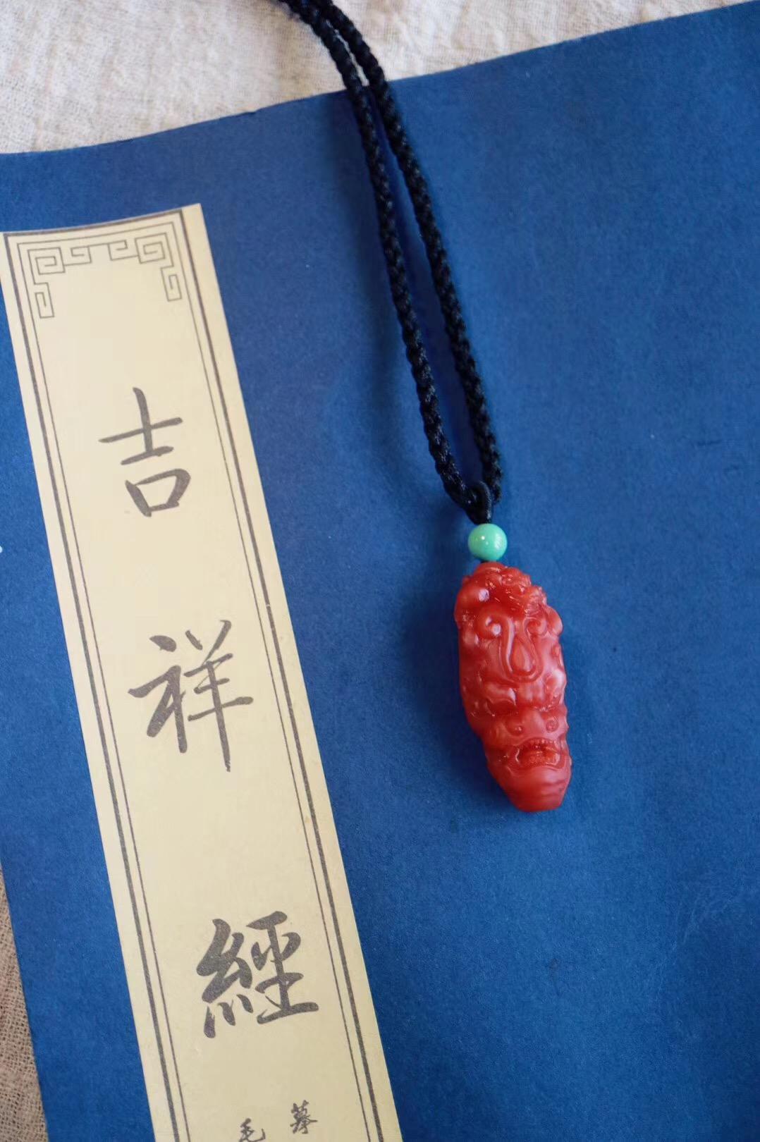 【菩心 | 保山南红貔貅吊坠】有一件经典之作,于细微处见真功夫-菩心晶舍