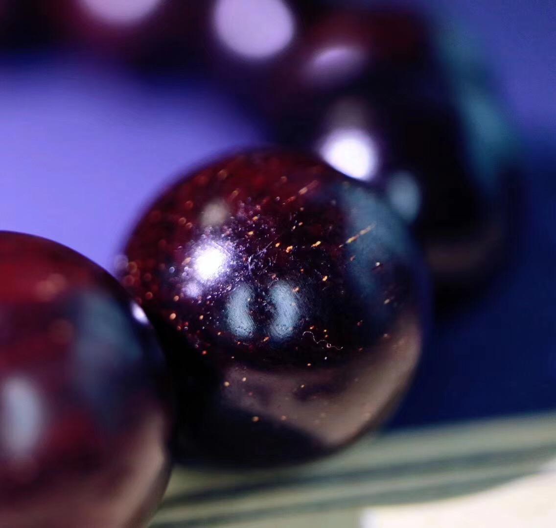 【菩心老料小叶紫檀】一串老料金星小叶紫檀,闲暇之余把玩一番-菩心晶舍