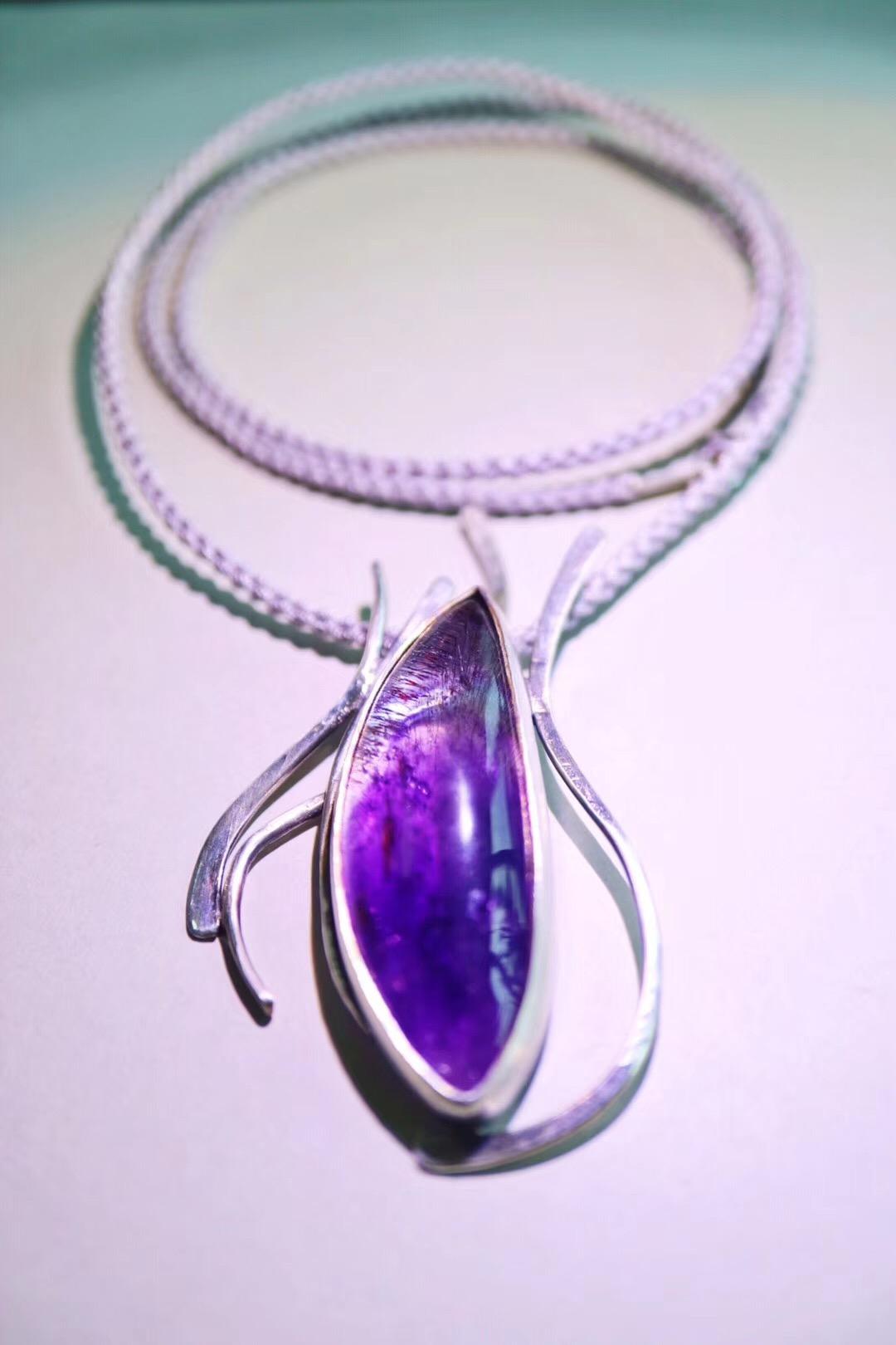 【菩心-紫发晶】梦幻紫发晶,可助安神,增强灵感。-菩心晶舍