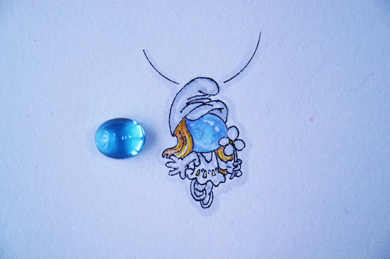 【菩心-托帕石】可爱的蓝精灵!-菩心晶舍