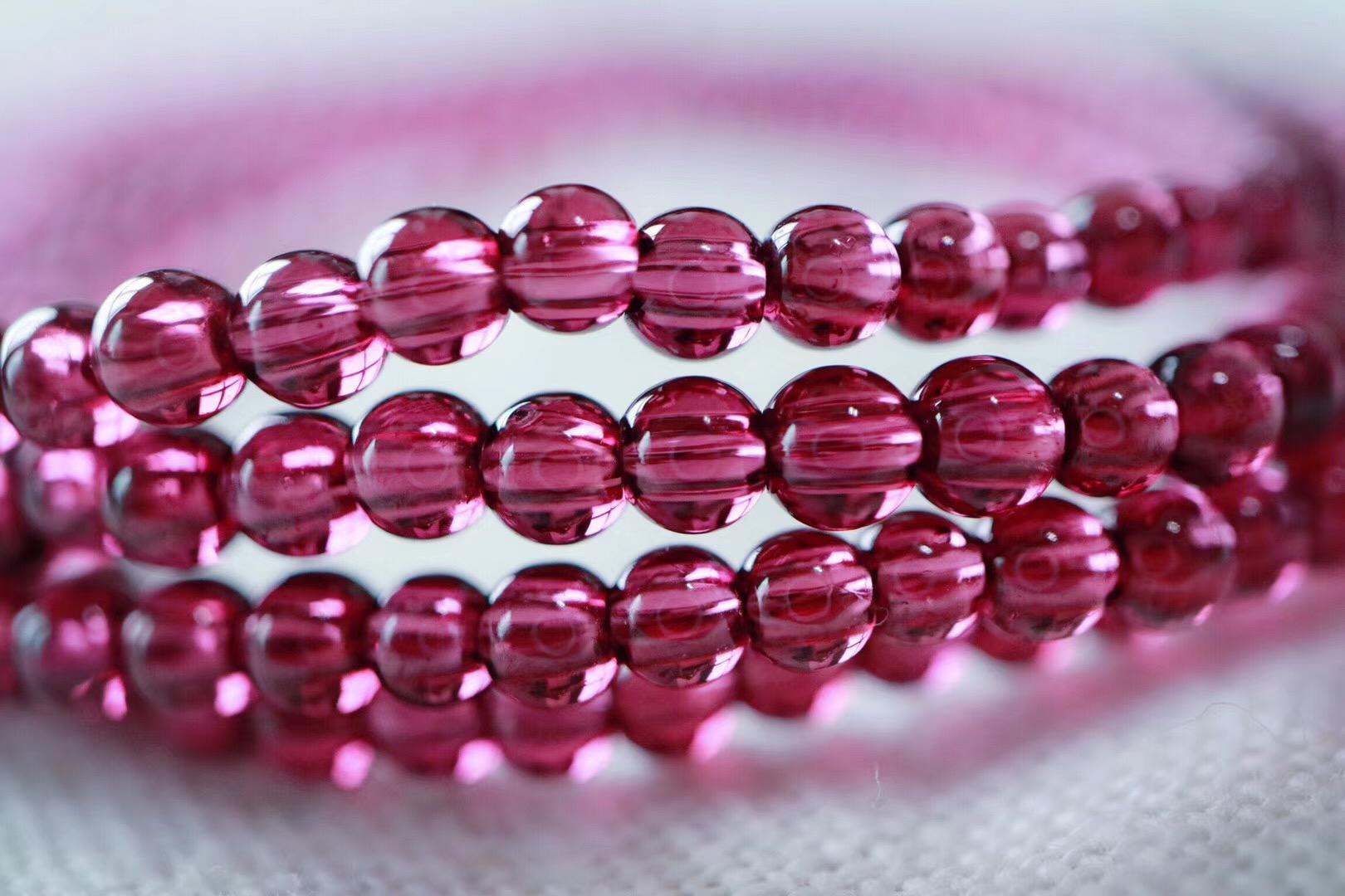 【菩心 | 玫红石榴石】有助于改善女性内分泌,美容养颜-菩心晶舍