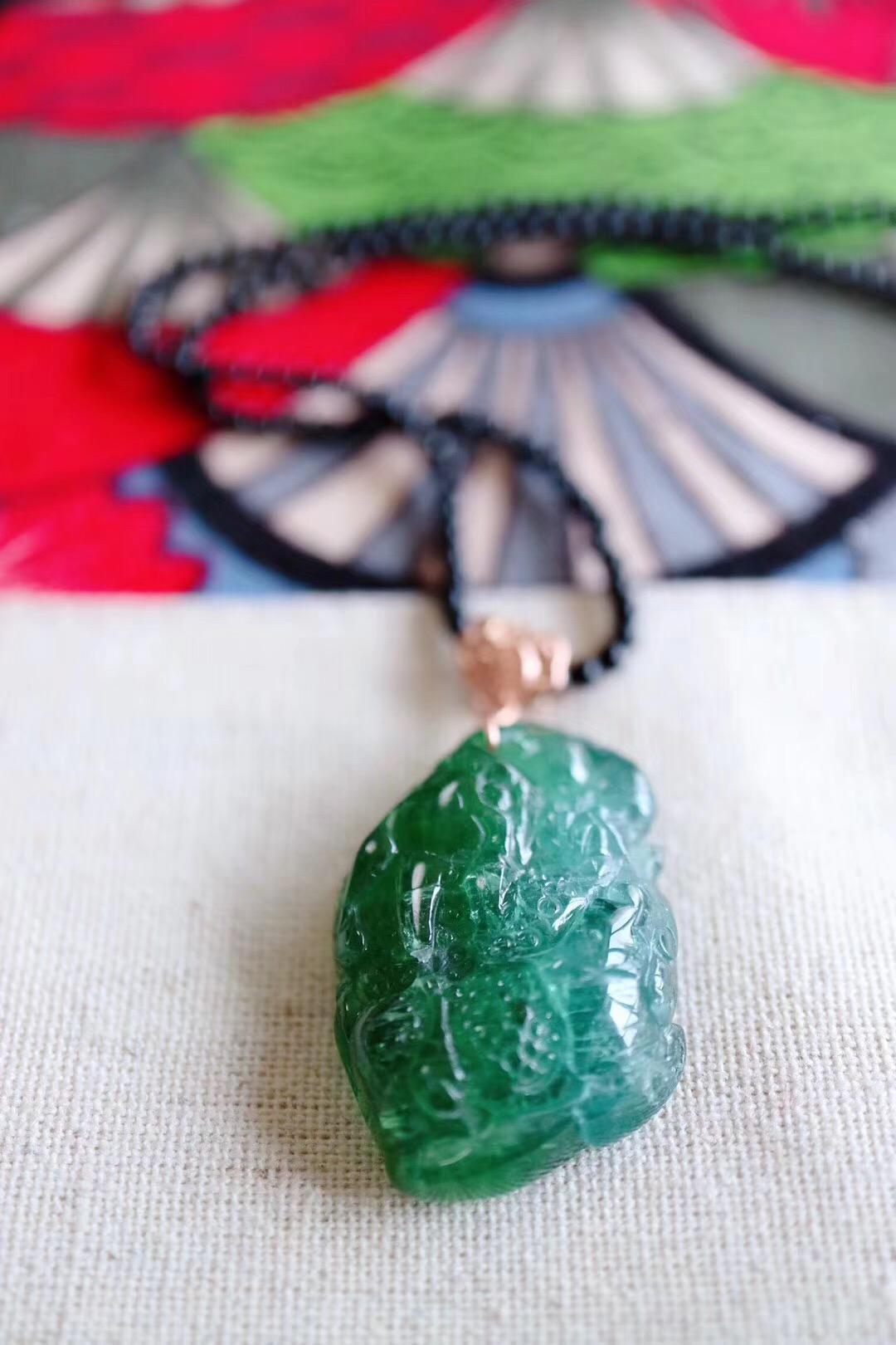 『碧玺 | 貔貅』 绿色,心轮的颜色,也是生命的颜色-菩心晶舍