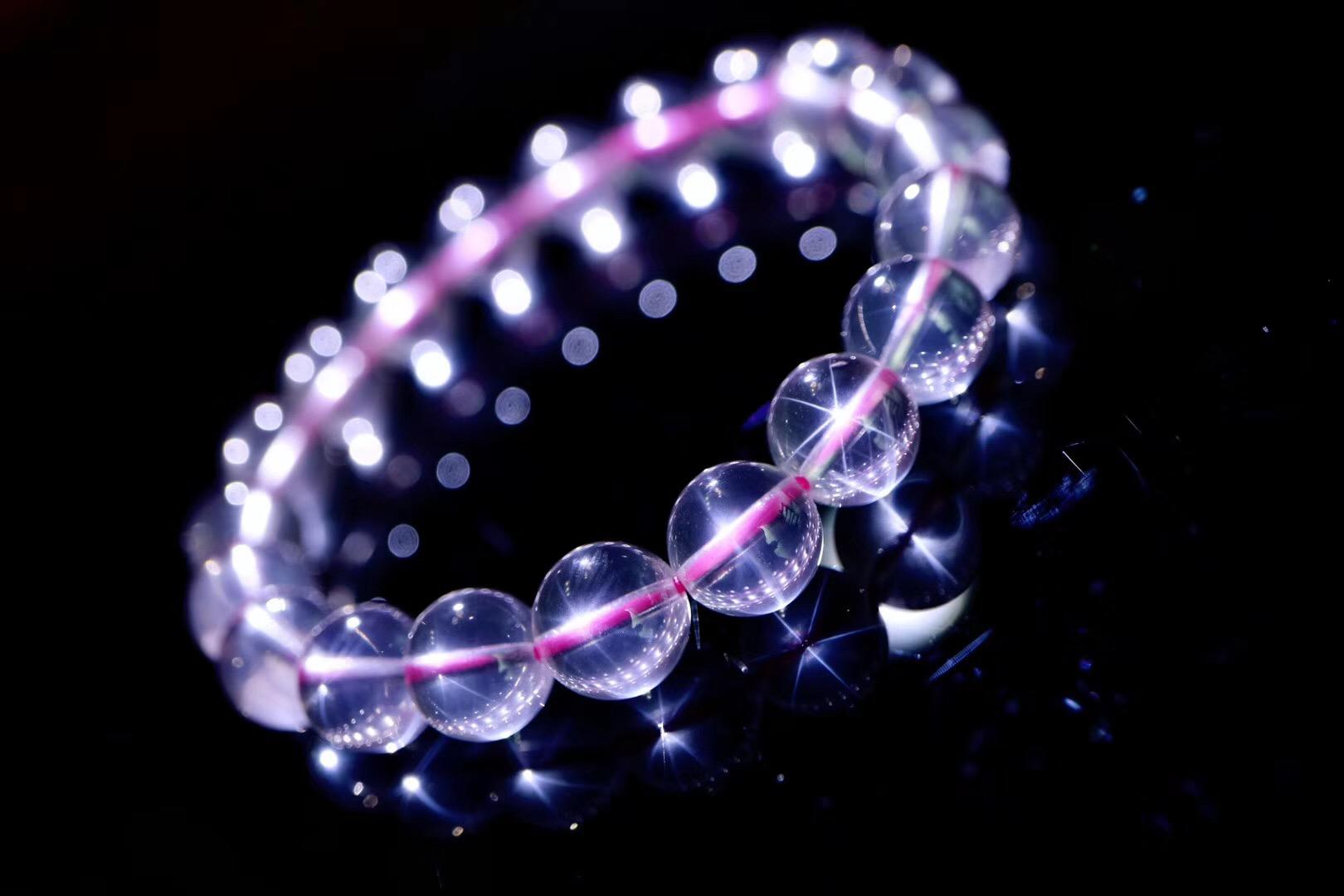 【粉晶   六道】 将星辰装入粉晶,形如闪星,分外迷人~-菩心晶舍